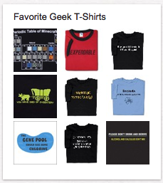 Favorite Geek T-Shirts