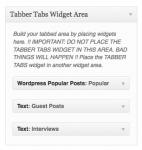 Tabber Tabs Widget