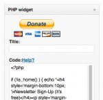 WP PHP Widget