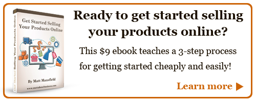 Ready to get started selling your products online?